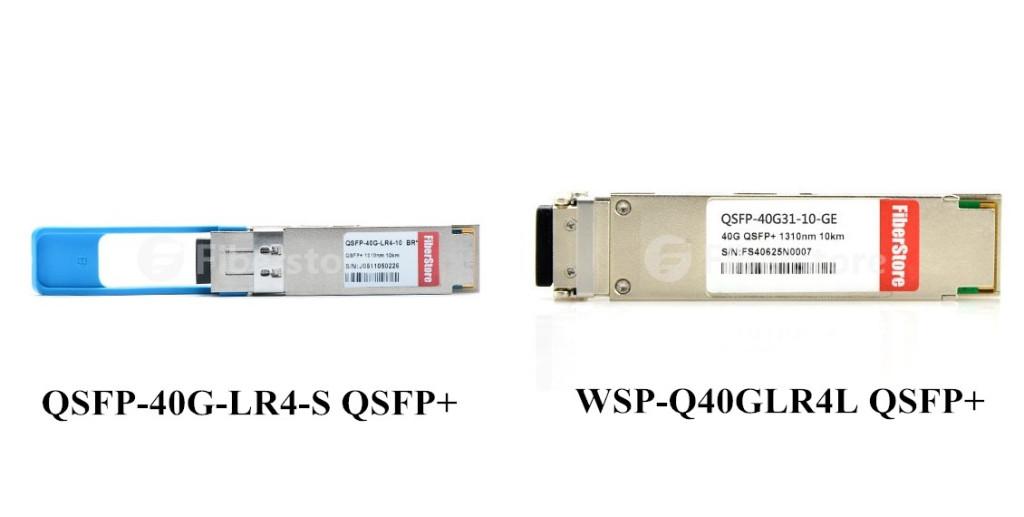 QSFP-40G-LR4-S QSFP+ and WSP-Q40GLR4L QSFP+